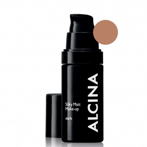Alcina Silky Matt Make-Up Dark Matinė kreminė pudra 30ml