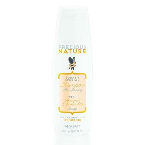 AlfaParf Precious Nature šampūnas su migdolų aliejumi ir pistacijų esencija dažytiems plaukams 250 ml
