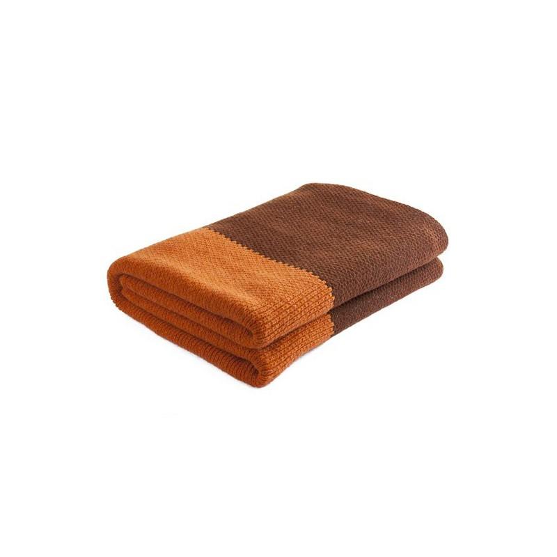 Nord Snow Merino vilnos pledas Natural Style Oranžinis