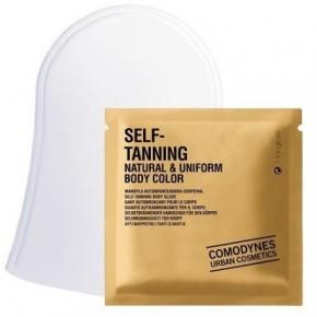 Comodynes Self - Tanning Natural & Uniform Body Color Kūno savaiminio įdegio pirštinės, natūrali spalva 3vnt