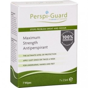 Perspi-Guard Antiperspirant Wipes Drėgnos servetėlės 7vnt