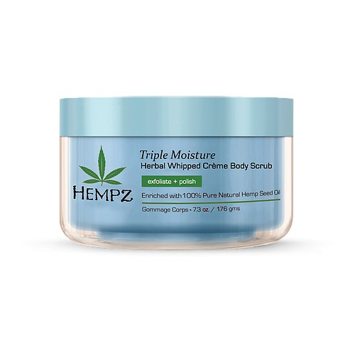 Hempz Triple Moisture Herbal Whipped Creme Body Scrub Kūno šveitiklis 176ml
