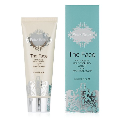 Fake Bake The Face Anti-ageing Self-tan Lotion with Matrixes 3000 Savaiminio įdegio priemonė veidui 60ml