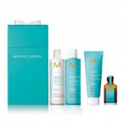 Moroccanoil Moisture Repair Dovanų rinkinys: Sausiems plaukams šampūnas, kondicionierius, kaukė ir aliejukas