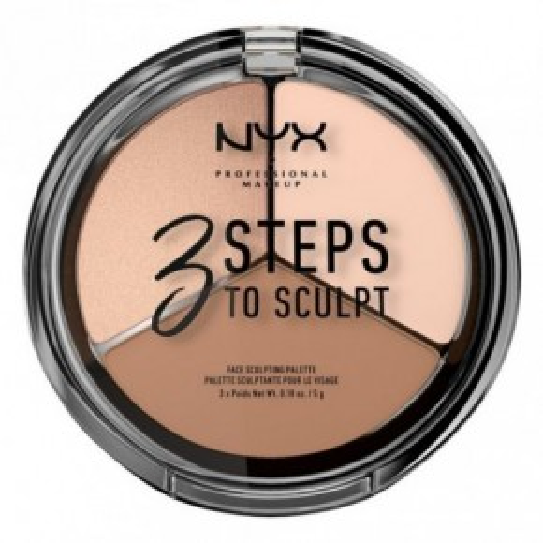 NYX 3 Steps to Sculpt Face Sculpting Palette Kontūravimo paletė 15g