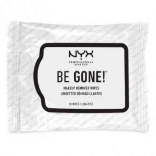 NYX Be Gone! Makeup Remover Wipes Valomosios servetėlės 20vnt