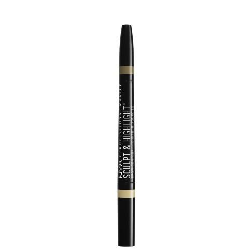 NYX Professional Makeup Sculpt & Highlight Brow Contour Dvipusis antakių pieštukas 0.8g