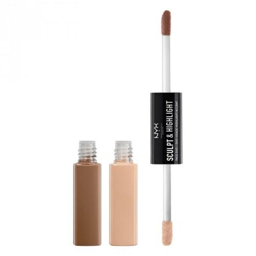 NYX Professional Makeup Sculpt & Highlight Face Duo Dvipusė kontūravimo priemonė 10.6ml