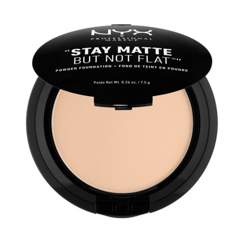NYX Professional Makeup Stay Matte But Not Flat Powder Foundation Pudrinis makiažo pagrindas 7.5g