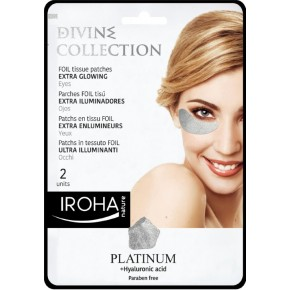 Divine Collection Foil Tissue Patches Extra Glowing Stangrinamoji paakių kaukė