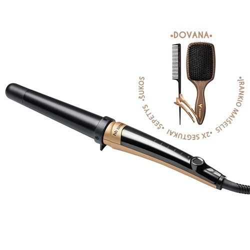 HH Simonsen Rod VS4 Gold Limited Edition Plaukų garbanojimo įrankis + dovana