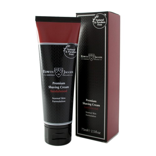 Edwin Jagger Premium Shaving Cream Santalmedžio aromato skutimosi kremas 75ml