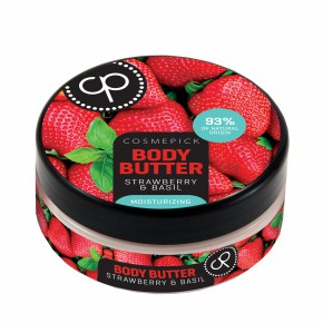Body Butter Strawberry & Basil Kūno sviestas su braškėmis ir baziliku