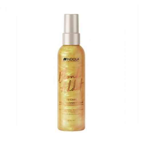 Indola Blond Addict Gold Auksinis blizgesio purškiklis 150ml