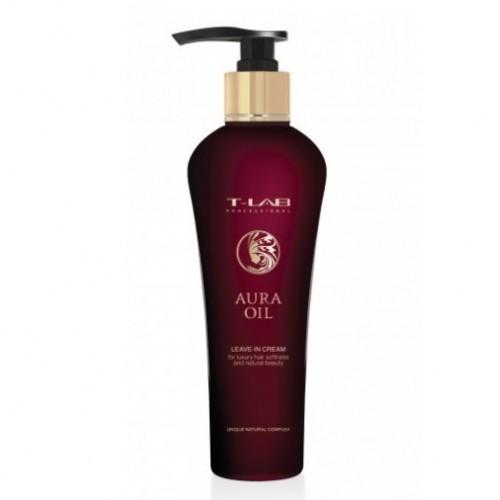 T-LAB Professional Aura Oil Leave-in Cream Nenuplaunamas kremas prabangiam plaukų švelnumui ir natūraliam grožiui 130ml