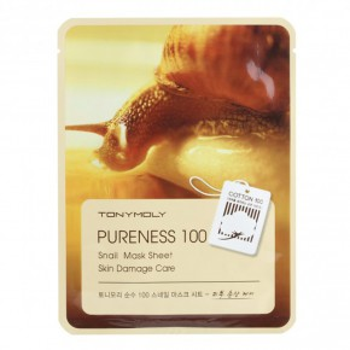 Pureness 100 Snail Mask Sheet Veido kaukė su sraigiu mucinu