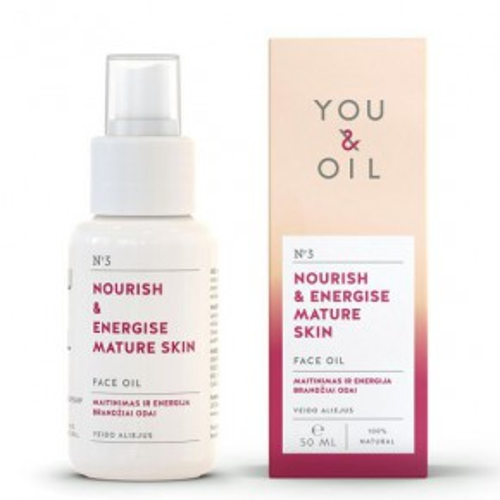 Nourish & Energise Mature Skin Face Oil Veido aliejus brandžiai odai