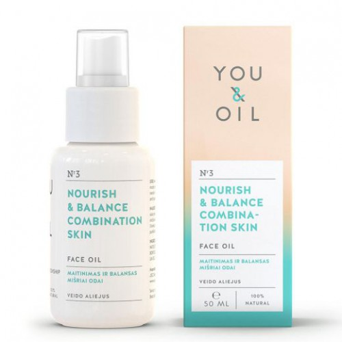 You&Oil Nourish & Balance Combination Skin Face Oil Veido aliejus mišriai odai 50ml