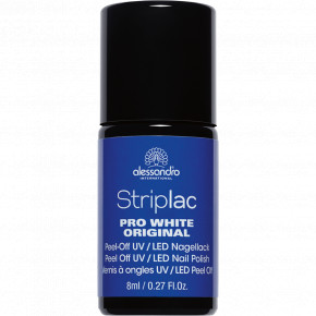 Striplac Pro White Original UV/LED Nail Polish Balinantis nagų lakas