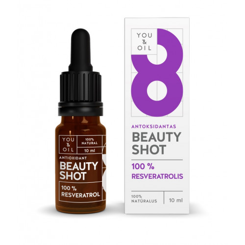 You&Oil Beauty Shot Antioxidant 100% Resveratrol Veidui/ANTIOKSIDANTAS 10ml
