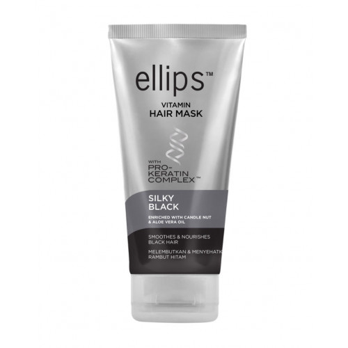 Ellips Silky Black Pro-Keratin Complex Mask Plaukų kaukė 18g