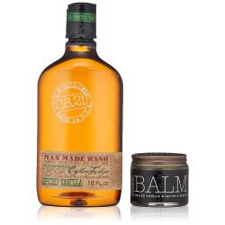 18.21 Man Made Wash & Balm Spiced Vanilla Gift Set Plaukų ir kūno priežiūros priemonių rinkinys vyrams