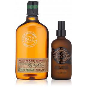 Wash & Shaving Glide Spiced Vanilla Gift Set Plaukų ir kūno priežiūros priemonių rinkinys vyrams