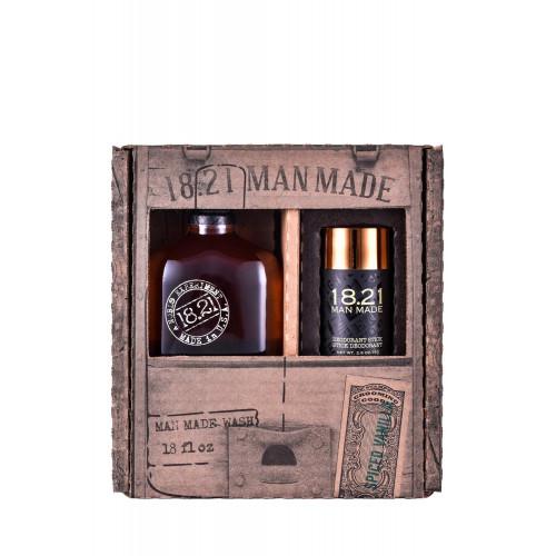 18.21 Man Made Wash & Deodorant Spiced Vanilla Gift Set Plaukų ir kūno priežiūros priemonių rinkinys vyrams