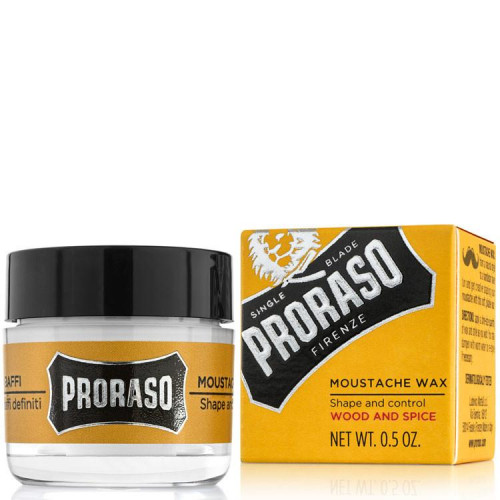Proraso Wood & Spice Moustache Wax Ūsų vaškas 15ml