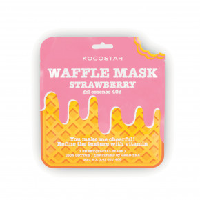 Waffle Mask Strawberry Veido kaukė