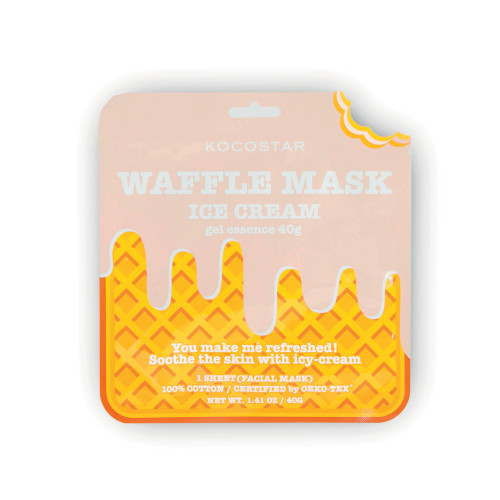 Kocostar Waffle Mask Ice Cream Veido kaukė 1 vnt.