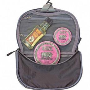 Reuzel Pink Dopp Bag Rinkinys su šampūnu ir vašku stipriam formavimui 100ml+113g+35g
