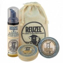 Reuzel Groom & Grow Gift Set Barzdos priežiūros rinkinys su solidžiu parfumu vyrams 35g+70ml+35g