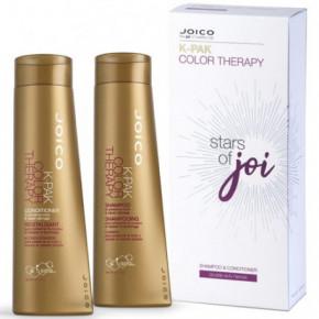 Joico Color Therapy Shampoo & Conditioner Gift Set Plaukus atkuriantis ir plaukų spalvą saugantis rinkinys dažytiems plaukams 300ml+300ml