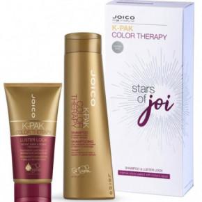 Joico Color Therapy Shampoo & Luster Lock Gift Set Atkuriantis ir spalvą saugantis rinkinys 300ml+140ml