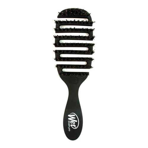 The Wet Brush Flex Dry Shine Enhancer Plaukų džiovinimo šepetys su natūraliais šereliais