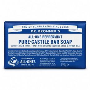Dr.Bronner's Peppermint ekologiškas kietas muilas 140g
