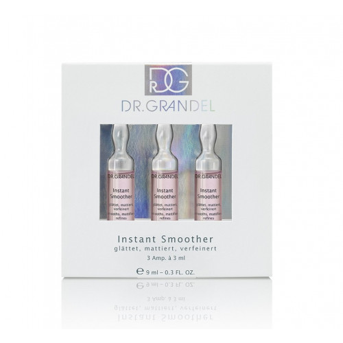 Dr. Grandel Instant Smoother Aktyvaus koncentrato ampulės 3x3ml