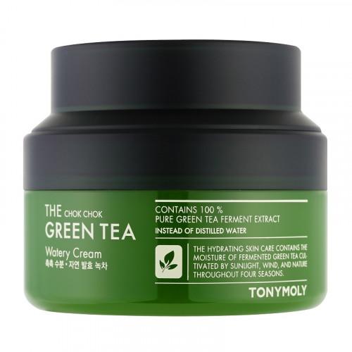 TONYMOLY The Chok Chok Green Tea Watery Cream Veido kremas su žaliosios arbatos ekstraktu 60ml