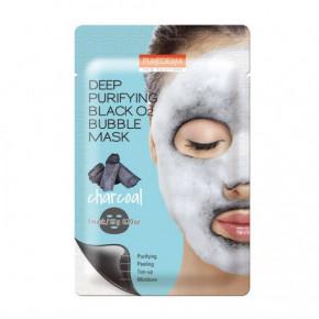 Purederm Deep Purifying Bubble Mask Charcoal Valomoji veido kaukė 20g