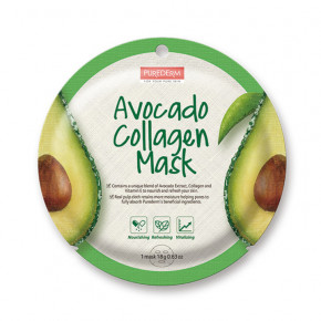 Avocado Collagen Mask Veido kaukė su avokado ekstraktu