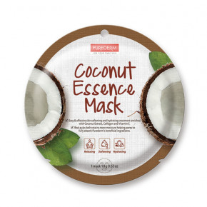 Purederm Coconut Essence Mask Veido kaukė su kokoso ekstraktu 18g