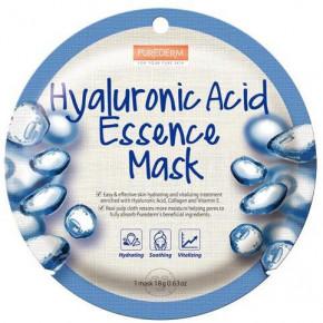 Purederm Hyaluronic Acid Essence Mask Veido kaukė su hialurono rūgšties ekstraktu 18g
