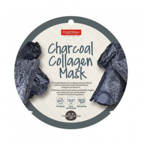 Purederm Charcoal Collagen Mask Kologeninė veido kaukė su anglimi