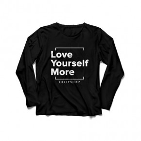 KlipShop Love Yourself More Sweatshirt