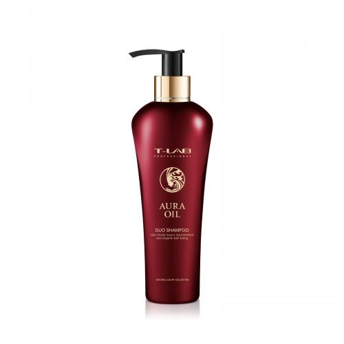 T-LAB Professional Aura Oil DUO Shampoo Šampūnas prabangiam plaukų švelnumui ir natūraliam grožiui 750ml