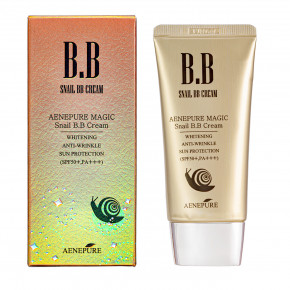 Ekel Aenepure Magic Snail BB Cream BB Kremas su sraigių mucinu 50ml
