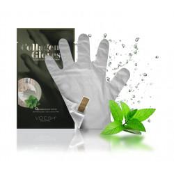 VOESH Collagen Gloves Peppermint Kaukė rankoms su pipirmėte 1 pora