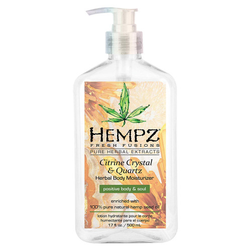 Hempz Citrine Crystal & Quartz Herbal Body Moisturizer Drėkinantis kūno kremas 500ml