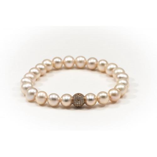 Nilly Apyrankė su natūraliais perlais ir auksu BRG 0016 1.3g